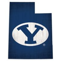 Brigham Young University Team Color Logo State Sign