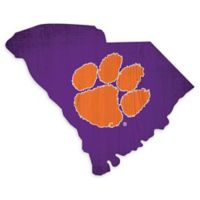 Clemson University Team Color Logo State Sign