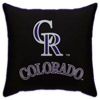 MLB Colorado Rockies Logo Throw Pillow