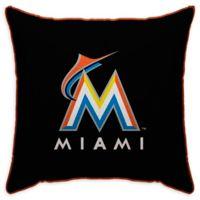 MLB Miami Marlins Logo Throw Pillow