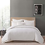 Charisma Luxe Cotton Linen King 3 Piece Comforter Set in Ivory