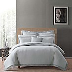 Charisma Luxe Cotton Linen Full/Queen 3 Piece Comforter Set in Grey