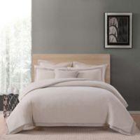 Charisma Luxe Cotton Linen King 3 Piece Comforter Set in Tan