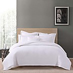 Charisma Luxe Cotton Linen Full/Queen 3 Piece Comforter Set in White