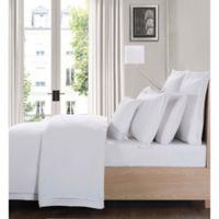 Charisma Luxe Cotton Linen California King 4 Piece Sheet Set in White
