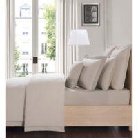 Charisma Luxe Cotton Linen Queen 4 Piece Sheet Set in Tan