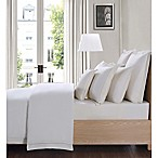 Charisma Luxe Cotton Linen California King 4 Piece Sheet Set in Ivory