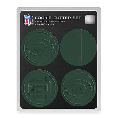 nfl cookie cutter set in green bay packers - bed bath & beyond