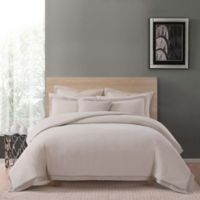 Charisma Luxe Cotton Linen Queen 3 Piece Duvet Set in Tan