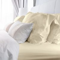 Rich Solid 400-Thread-Count King Sheet Set in Ivory