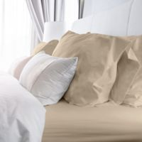 Rich Solid 400-Thread-Count Twin Sheet Set in Linen
