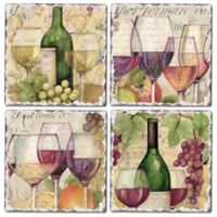 Wine Country Square Coasters (Set of 4)
