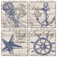 Nautical Square Coasters (Set of 4)