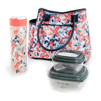 Fit & Fresh® Asheville 5-Piece Lunch Bag Set in Pink/Blue