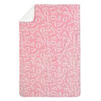 "Just Born® Dream ""Love"" Plush Blanket in Pink/White"