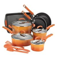 Rachael Ray™ Classic Brights Nonstick Porcelain Enamel 14-Piece Cookware Set in Orange