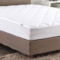 Puredown 100% Cotton Top Full Mattress Pad in White