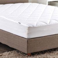 Puredown 100% Cotton Top Queen Mattress Pad in White