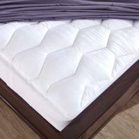 Puredown 500 Thread Count Cotton Twin Mattress Pad in White