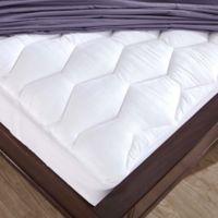 Puredown 500 Thread Count Cotton Full Mattress Pad in White