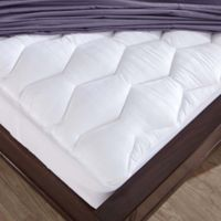 Puredown 500 Thread Count Cotton King Mattress Pad in White