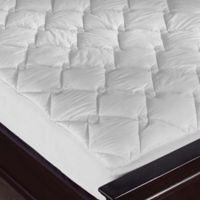 Puredown Diamond Quilted Full Mattress Pad in White