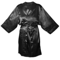Cathy's Concepts Small/Medium Satin Robe in Black