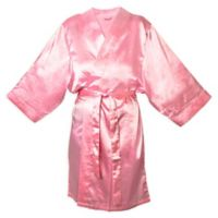 Cathy's Concepts Large/X-Large Satin Robe in Pink