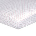 Just Born® Dream Trellis Fitted Crib Sheet in Pink/White