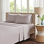 Madison Park Peached Percale Cotton Queen Sheet Set in Khaki