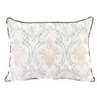 Versailles Throw Pillow in Grey/Tan