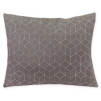 Virgo Geometric Oblong Throw Pillow in Charcoal