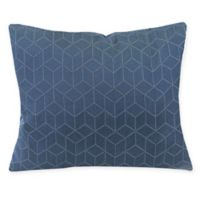 Virgo Geometric Oblong Throw Pillow in Sapphire