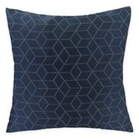 Virgo Geometric Square Throw Pillow in Sapphire