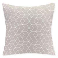 Virgo Geometric Square Throw Pillow in Mica