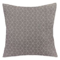 Virgo Geometric Square Throw Pillow in Charcoal