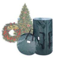 Elf Stor 2-Piece Wreath Storage Bag and Christmas Tree Storage Bag Set in Green