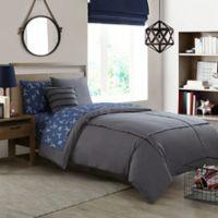 Bridgeport 2-Piece Twin Comforter Set in Grey