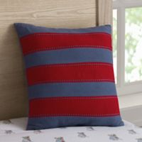 Henry Striped Square Throw Pillow in Navy/Red