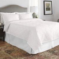 Pointehaven Twin/Twin XL Aura Quilt Set in White/Pink