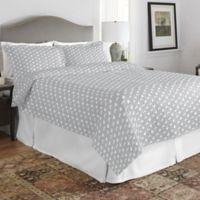 Pointehaven Bunnies Twin/Twin XL Quilt Set in Grey/White
