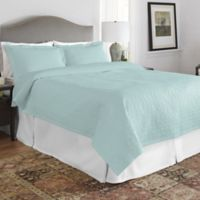 Pointehaven Raindrops Twin/Twin XL Quilt Set in Teal/White