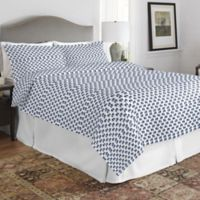 Pointehaven Elephant Twin/Twin XL Quilt Set in Blue/White