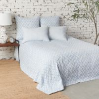 Carol & Frank Talley Reversible Twin Quilt in Blue