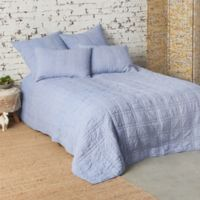 Carol & Frank Hugh Reversible Queen Quilt in Blue