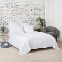 Carol & Frank Mallory King Quilt in White