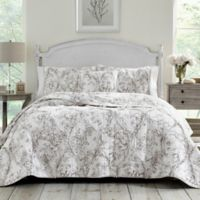 Laura Ashley® Lena Reversible Twin Quilt in Grey