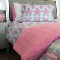 American Colors Emily Madison Twin Duvet Cover Set in Pink/Purple