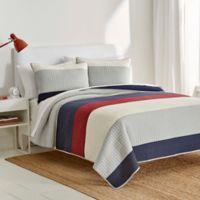 IZOD® Highlands Reversible Twin Quilt in Grey