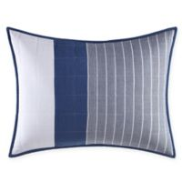 Nautica® Swale Striped Standard Pillow Sham in Navy